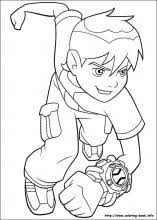 size ben 10 colouring pages prints blank