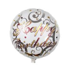 inflated balloons delivered bag 18 inch shape happy birthday printed foil balloon helium