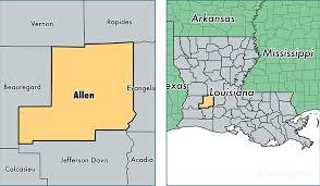 map of allen allen parish louisiana map of allen parish la where is allen