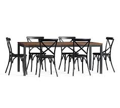 X Back Bistro Chair Dining Table 6 Black X Back Bistro Chairs Espresso