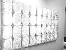 Silver Velvet Headboard by Modern Crushed Velvet Headboards U0026footboards Ebay