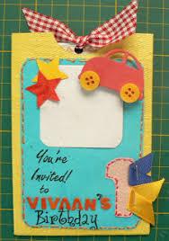 juhi u0027s handmade cards first birthday invitation cards