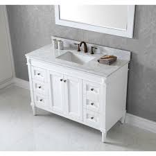 48 In Bathroom Vanity With Top Virtu Usa 48 In Vanity In Antique White With Marble