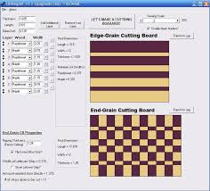 Wood Design Software Freeware by Cutting Board Design Software Cbdesigner By Jayman7