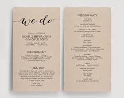 wedding programs with pictures seven important lessons diy wedding program taught
