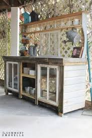 Free Wooden Potting Bench Plans by 16 Free Potting Bench Plans To Organized And Make Gardening Work