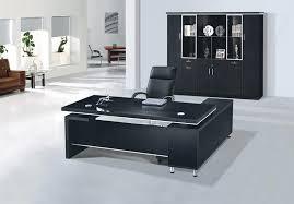 Chair Office Design Ideas Office Desks Black Modi Executive Pedestal Desk Black Glass Top