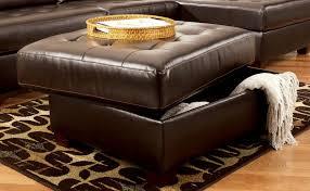 leather storage ottoman storage decorations