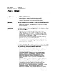 cover letter gis specialist resume gis specialist sample resume