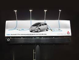 car ads 2016 mitsubishi outdoor advert by bbdo imiev electric billboard ads