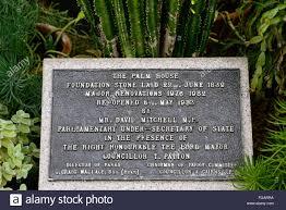 Belfast Botanical Gardens by Belfast Botanical Gardens Palm House Commemoration Plaque Stone
