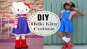 diy hello kitty costume w headband and pinafore tutorial youtube