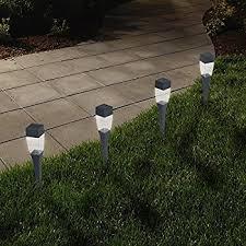 solar powered lights set of 24 low voltage led outdoor steak