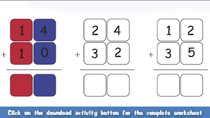 addition addition worksheets hundreds tens and units free math