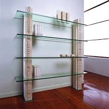 modular bookcase made of vicenza natural stone and crystal galene