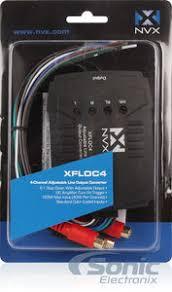 nvx xfloc4 160w 4 channel line output converter w noise filter