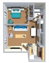 the studio400 plan is a single room modern guest house plan with a wondrous ideas 550 square house layout 9 sq ft floor