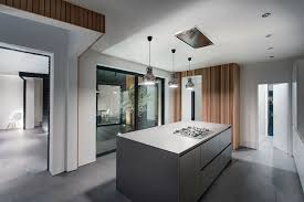 home kitchen space decorated with modern kitchen with concrete