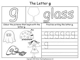 g worksheets for kindergarten u0026 alphabet g tracing worksheets for