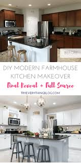 diy modern farmhouse kitchen makeover final reveal u0026 full source