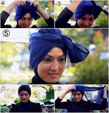 tutorial turban sederhana tutorial hijab paris turban untuk pesta yang mudah dan simple