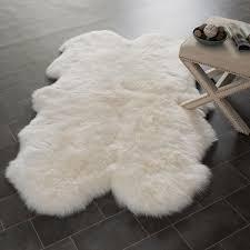 Faux Fur Sheepskin Rug Area Rugs Extraordinary White Area Rug White Area Rug Super Plus