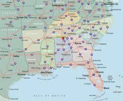Us Cities Map Southeastern Map Of Usa Image Gallery Hcpr