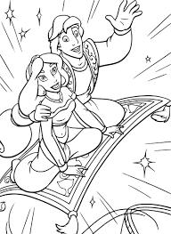 Coloriage Jasmine et Aladdin gratuit à imprimer