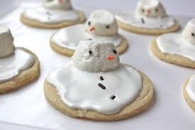 christmas traditions melted snowman sugar cookies and sugar