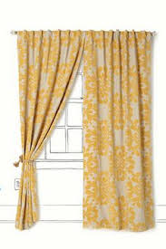 Yellow Brown Curtains Gold And Red Suzani Cotton Curtains Set Of 2 Printed Curtains
