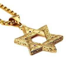 gold necklace hip hop images Bling judaism jewish six jew stars necklaces hip hop jewelry gift jpg