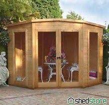Summer House For Small Garden - might be a bit big but still cool cabins and sheds pinterest