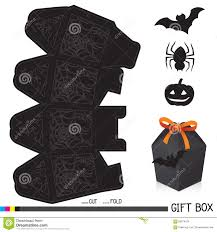 gift halloween halloween gift box with tag stock vector image 60974276