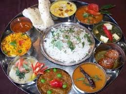 traditional dinner with indian family in haridwar uttarakhand india