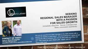 Advertising Sales Manager Seeking Regional Sales Manager For Cabinet Company Keercutter