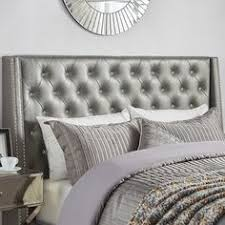 crystal button tufted velvet headboard with by samanthadanielle