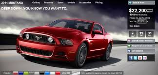 mustang car 2014 price 2014 ford mustang configurator 10 versions no