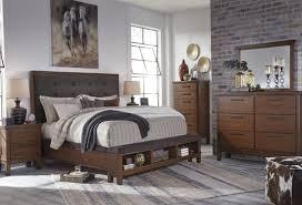 Porter King Storage Bedroom Set Ralene Dark Brown Upholstered Storage Bedroom Set From Ashley