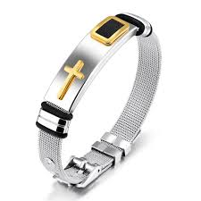 black strap bracelet images Crosstees adjustable fashion stainless steel watch band strap jpg