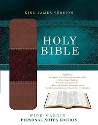 holy bible wide margin personal notes edition king james version