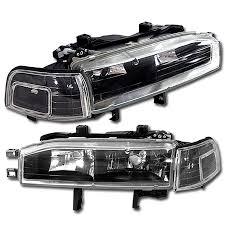 honda accord 92 90 91 92 93 jdm honda accord 2 headlights with corner black