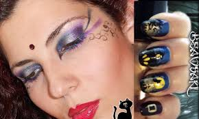 halloween make up witch tutorial coll beaosaki nail art
