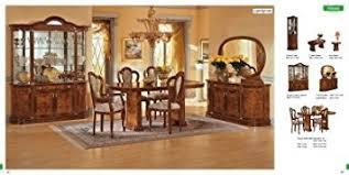 amazon com esf milady 7 pieces elegant classic walnut italian