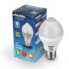 pir led light bulb chichinlighting led motion sensor light bulb 6 watts warm white pir