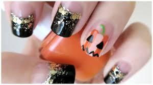 halloween nails glam pumpkin design missjenfabulous youtube