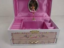 childrens jewelry box childrens white ballerina rectangular musical jewelry box with