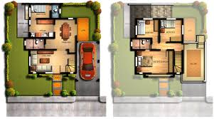 Two Storey Residential Floor Plan 2 Storey House Design And Floor Plan Philippines Home Construct