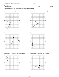 math translation worksheets u0026 geometry worksheets coordinate