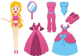 barbie doll vector elements download free vector art stock