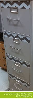 contact paper file cabinet 36 clever diy ways to decorate your classroom mod podge wrapping